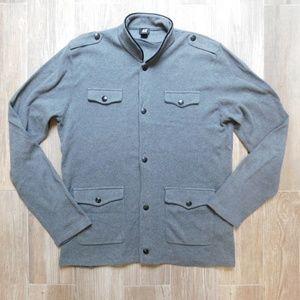 H&M cotton sweater jacket, grey, Large, new.